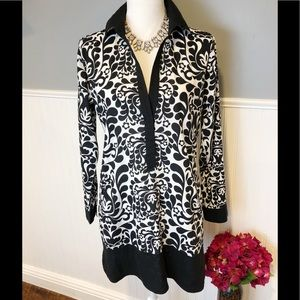 Tommy Bahama black and white swim cover up